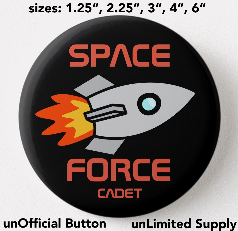 Space Force cadet button