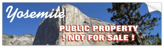 STOP THE SALE OF YOSEMITE PARK