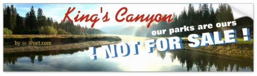 KING'S CANYON NATIONAL PARK is NOT FOR SALE