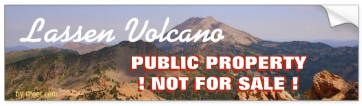 LASSEN VOLCANO NATIONAL PARK is NOT FOR SALE