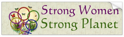 Strong Women, Strong Planet bumpersticker